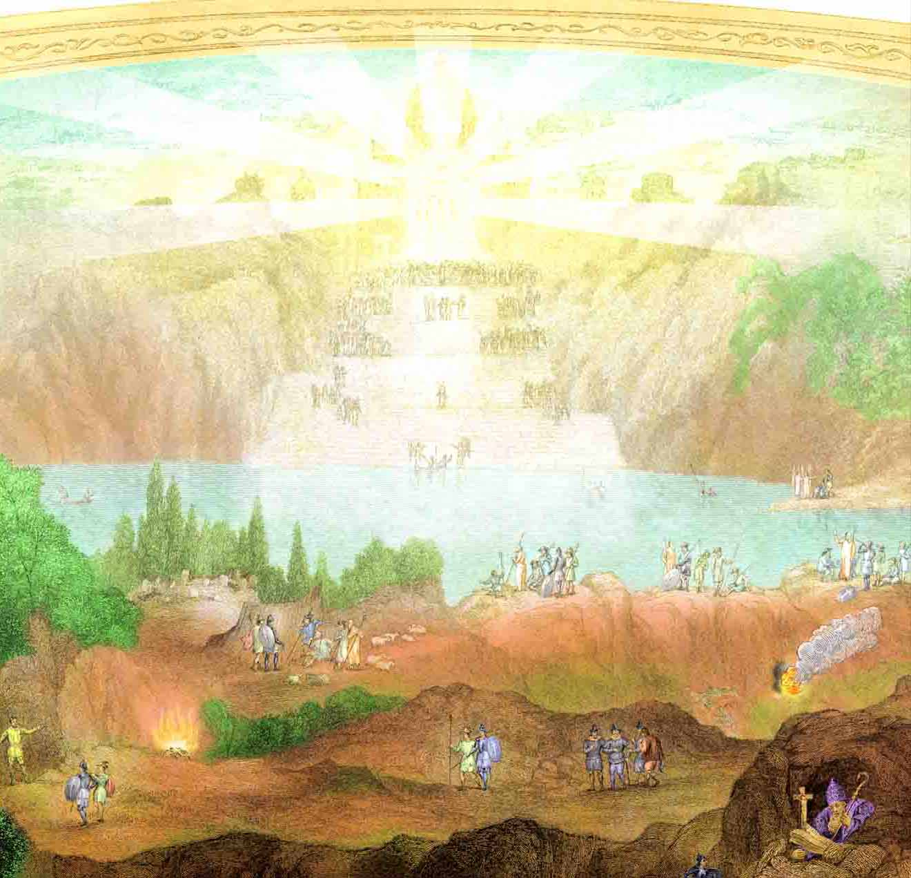 """Picture showing the Celestial City from the engraving """"Bunyan's Pilgrim"""""""