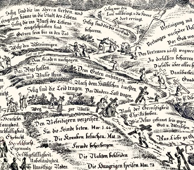Detail from Der Breite und der Schmale Weg - A Gysin,  Basel, Switzerland
