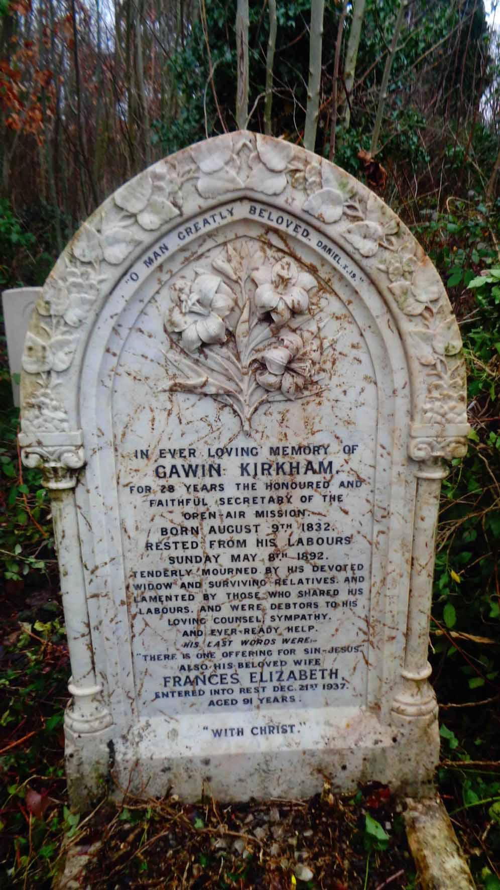Gawin Kirkham - Grave