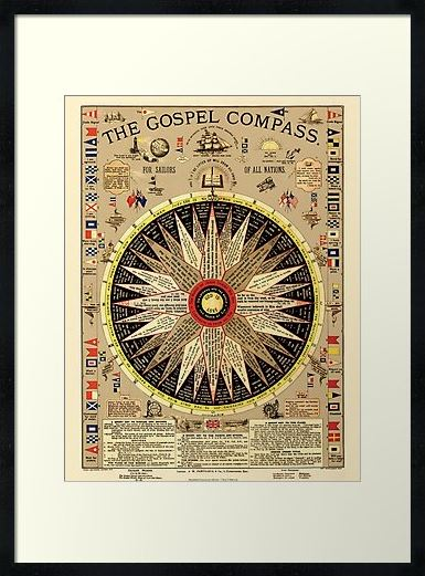 The Gospel Compass - For Sailors of All Nations - Framed Prints