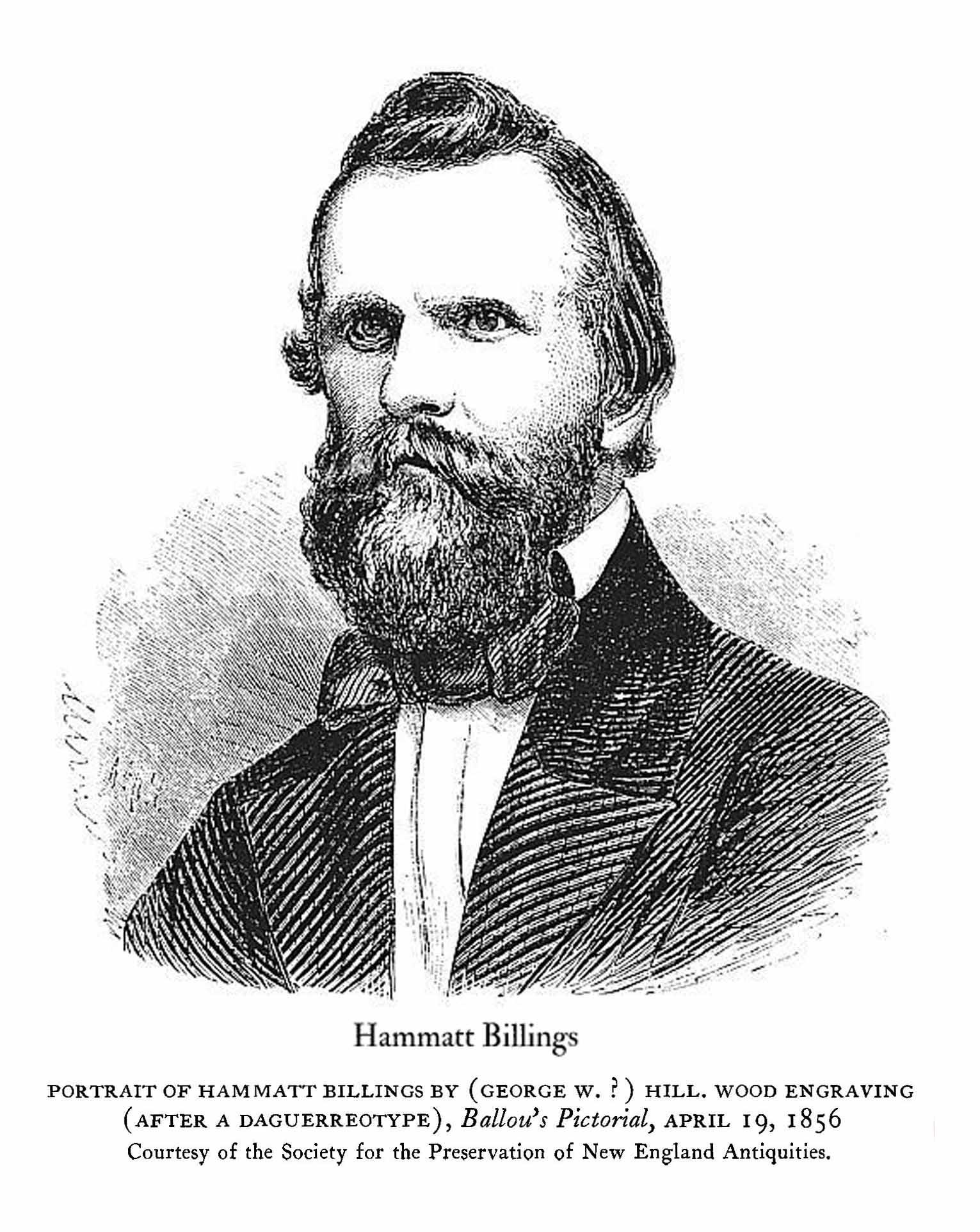 "Black and White Portrait ""Hammatt Billings"""