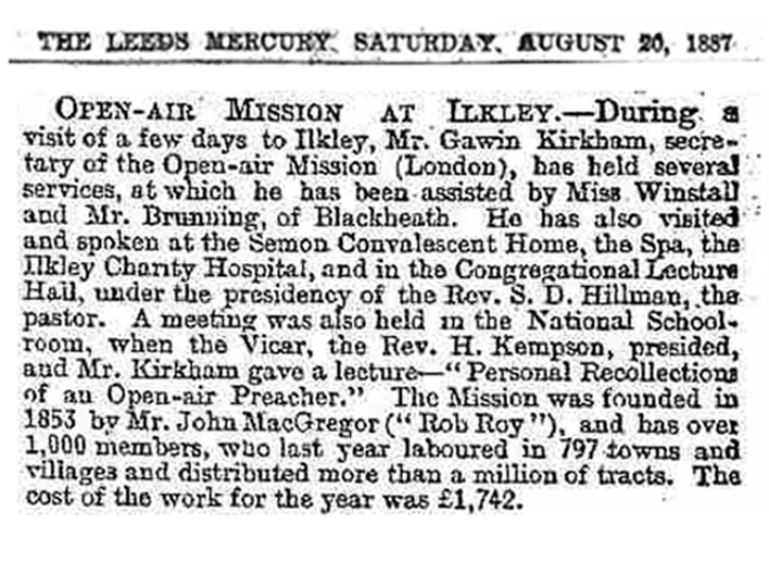 THE LEEDS MERCURY. SATURDAY. AUGUST 20, 1887