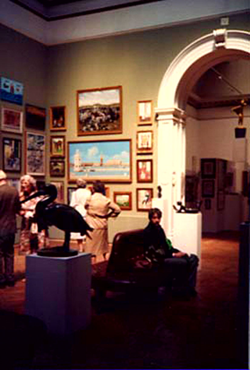 Peter at the Royal Academy - 1984